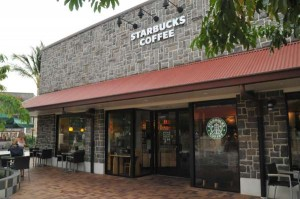 Starbucks at Queens Shops next door - Waikoloa Beach Resort on the Big Island of Hawaii