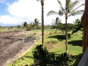 View Of Golf Course From Deck - Vacation Rental In Hawaii - Waikoloa