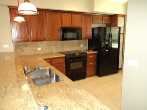 Granite Counters in Kitchen of Waikoloa Beach Resort Condo Vacation Rental in Hawaii