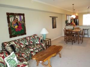 hawaii waikoloa vacation rental living area