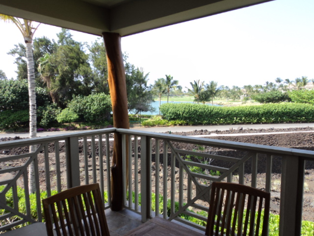View Off Deck Of Lake On Golf Course - Waikoloa Hawaii Vacation Rental